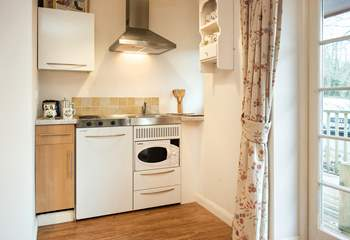 There is a small kitchenette which is surprisingly well-equipped.