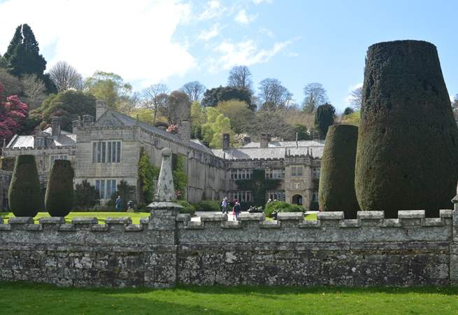 The historic house, gardens and parkland at Lanhydrock (National Trust).