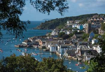 Take a trip to fashionable Fowey with its trendy shops and galleries and a whole of host of places to eat and drink.