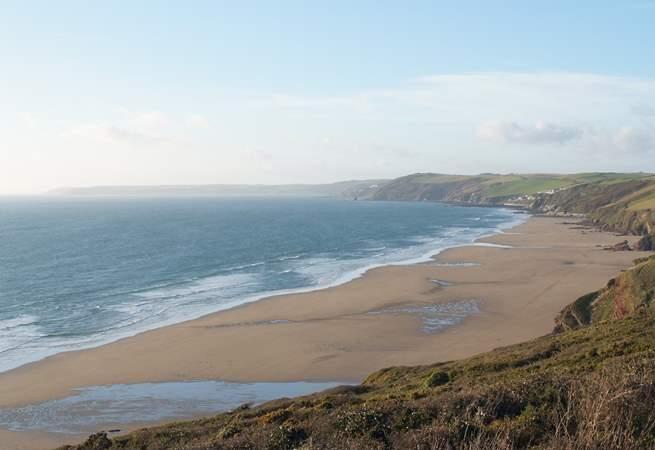 The beautiful south coast of Cornwall.