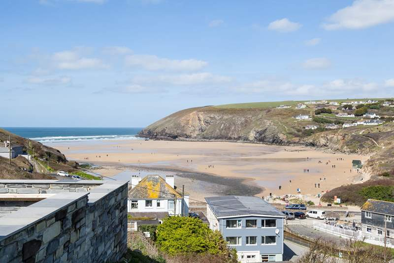 Mawgan Porth and the beautiful sandy bay.