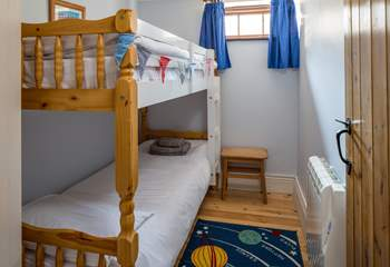 Bedroom 2  is this rather sweet bunk-bed room which is only on offer to the kiddies. Please do note that to access this room you need to go via the utility-room.