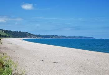 Slapton Sands beach is even closer and offers so much history to marvel at.