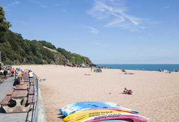 Only a short drive away you will find the beach at Blackpool Sands. A fabulous day out for all the family.