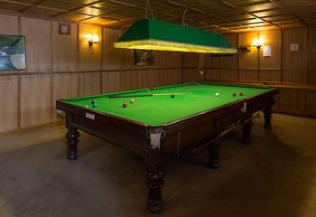 Even the adults are catered for with this full-size snooker table.