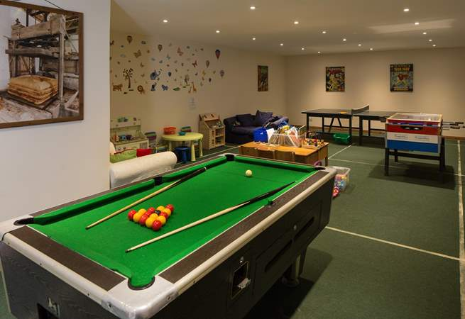 The communal games-room has a pool table, perfect for 'staying in' days.