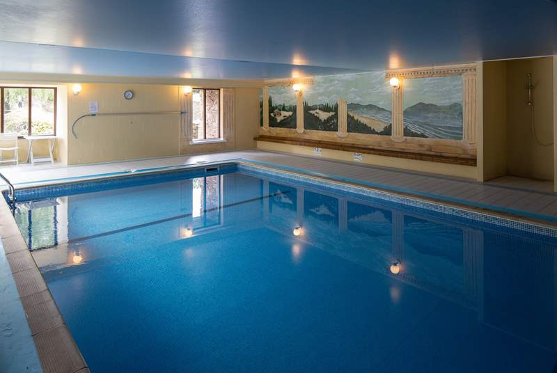 The stunning communal indoor heated pool is a very welcome sight on a dull day or in fact any day!