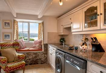 Enjoy fabulous views from the kitchen.