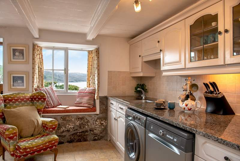 Enjoy fabulous views from the kitchen.