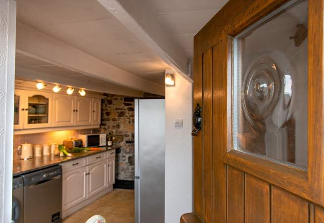 The cottage has a charming stable-door.