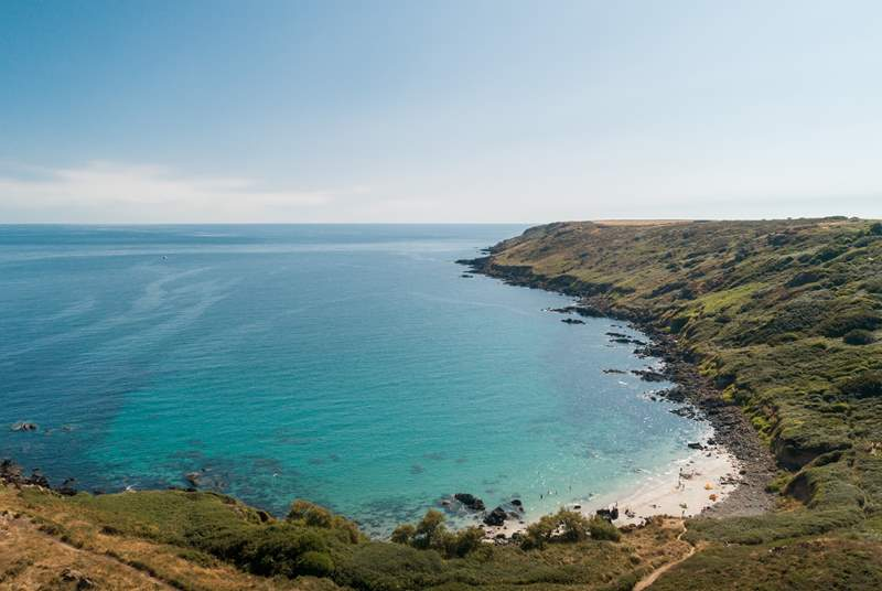 Explore the coast path to find hidden coves -  this is only 20 minutes from your cottage