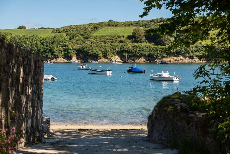The gently coastline of the Helford is lovely to explore.