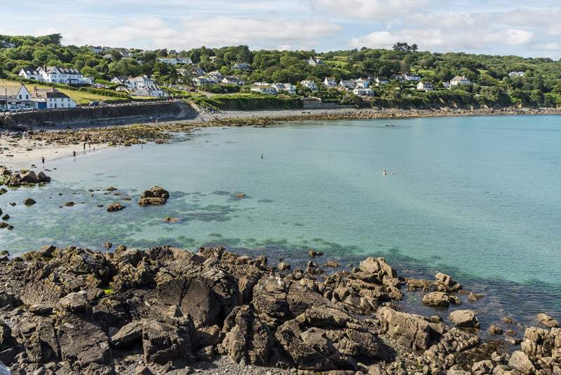 Coverack at low tide has a pretty sandy beach, perhaps have a sea swim.