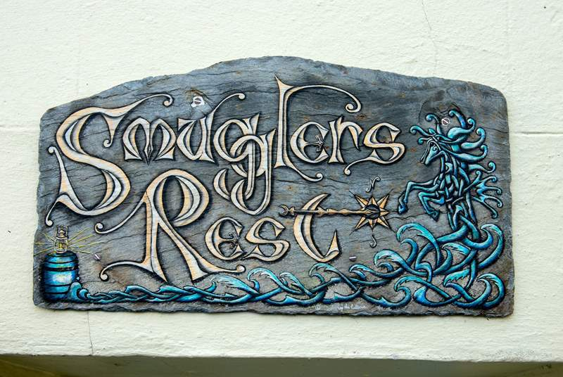 A pretty sign by a local artist.