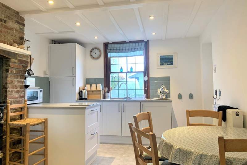 The kitchen/breakfast-room is light and airy throughout.