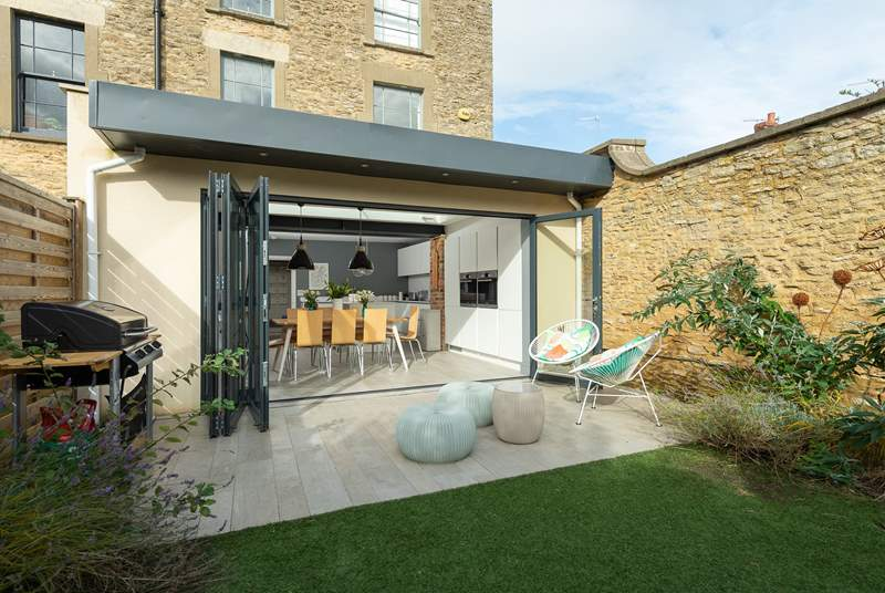 Bi fold doors open right back so that the garden becomes a natural extension to the lovely sociable accommodation.