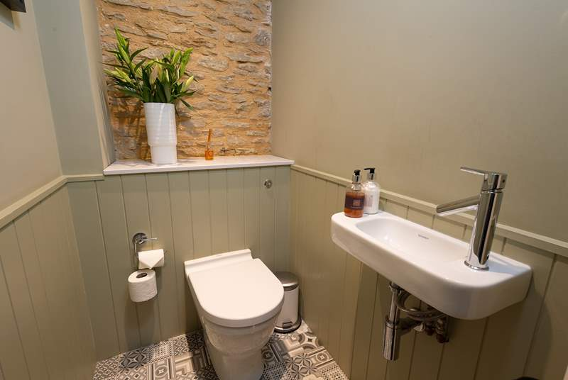As well as the two bathrooms, there is a very convenient ground floor cloakroom