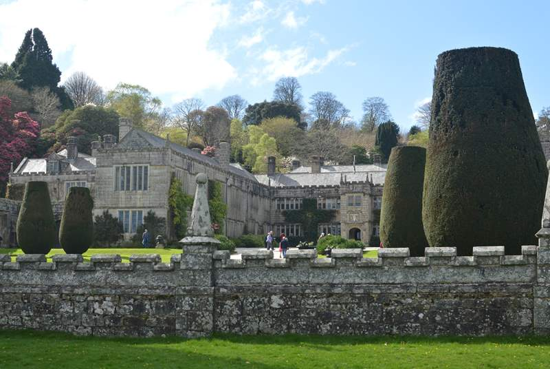 The grand house, gardens and parkland at Lanhydrock (National Trust).