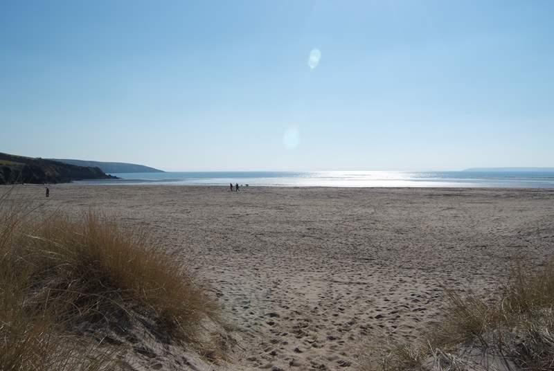 This is the closest beach, gorgeous Par Sands.