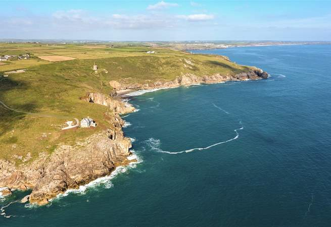 Rinsey headland, just a short stroll down the footpath.