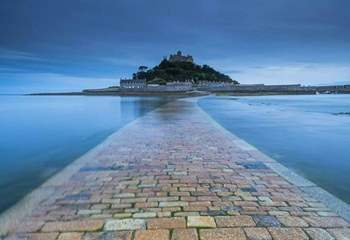 St Michael's Mount in Marazion is a short drive away.