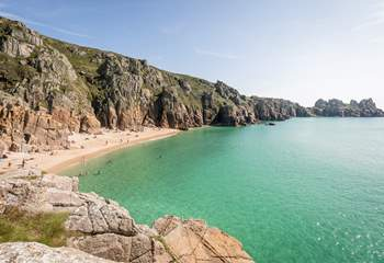 The sea in the Porthcurno area is unlike any other.
