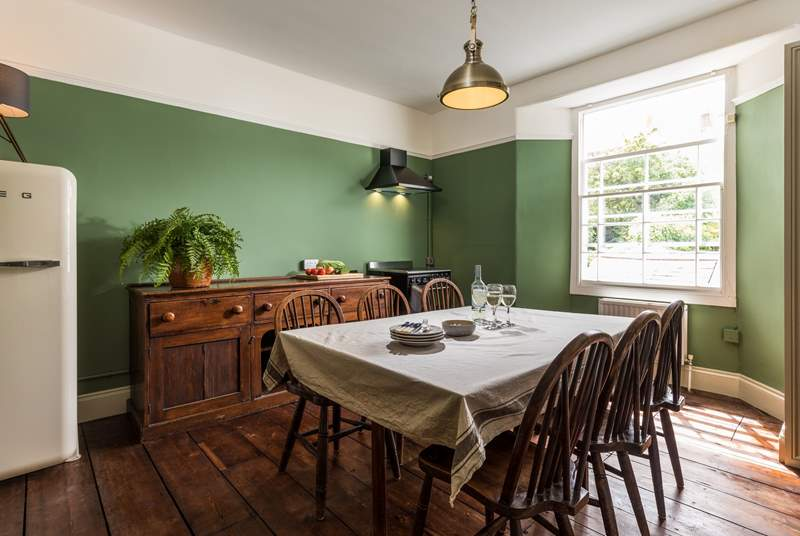 Cook up a feast in this gorgeous kitchen which overlooks the owners' garden on the floor below.