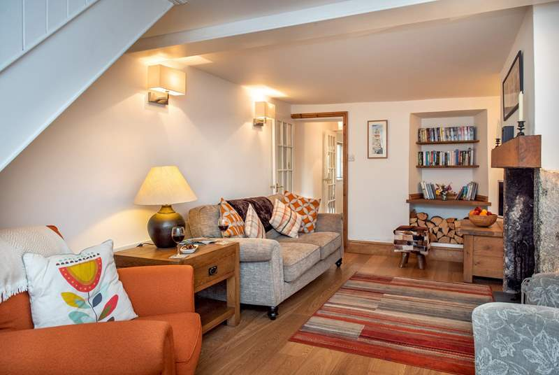 The cottage sitting-room is very cosy.