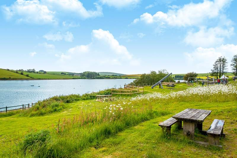 Children will love the play-area at Siblyback Lake.