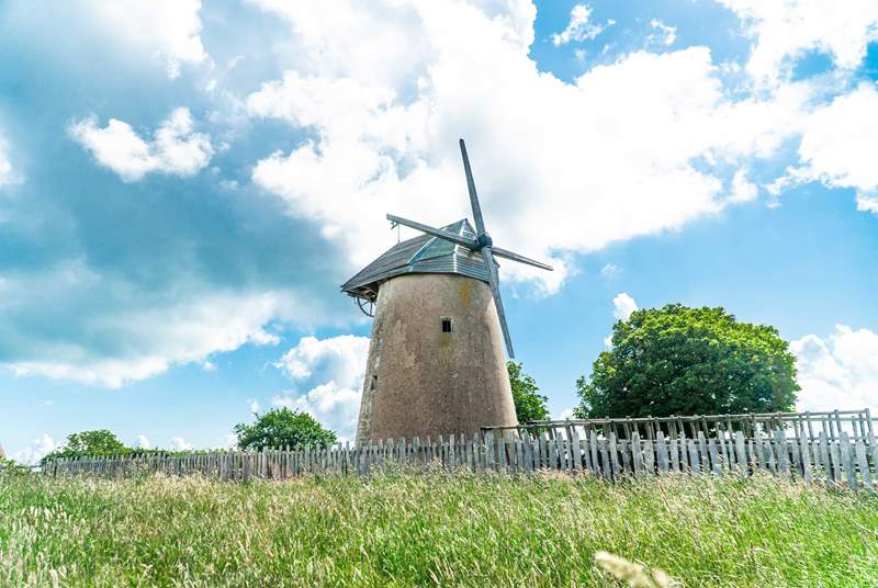 Bembridge Windmill is the last surviving windmill on the Isle of Wight.