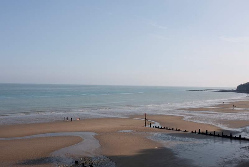 Shanklin beach is beautiful and has a level walk through to Sandown beach.