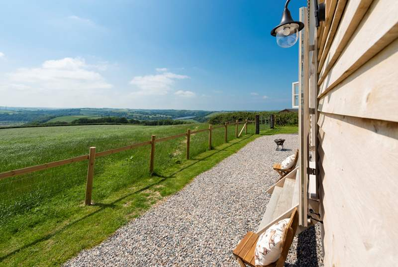 The jaw-dropping panoramic view looks down over farmland and forest to the River Torridge, over countryside miles beyond and as far as Lundy Island just off the coast.