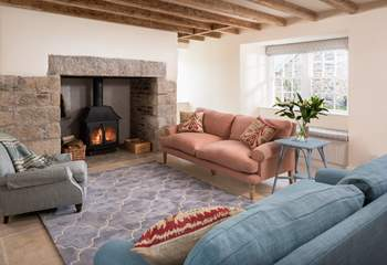Enjoy snuggling up in the sitting-room.