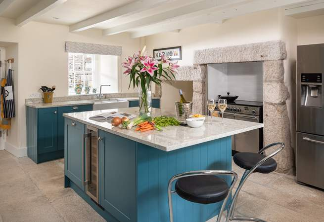 The large kitchen is perfect for cooking up a feast.