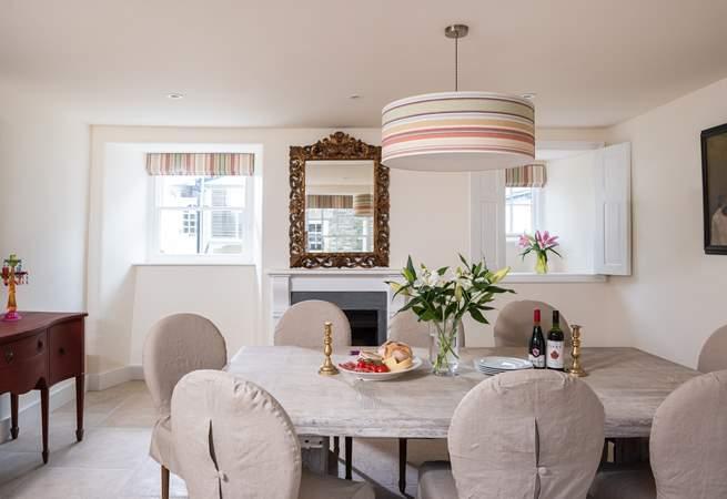 The elegant dining-room.