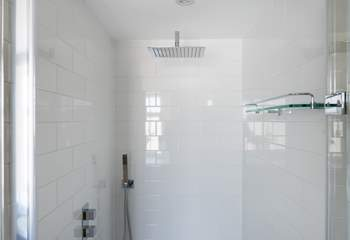The shower downstairs.