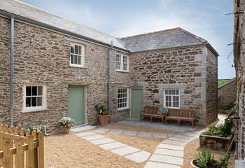 There is a lovely sheltered courtyard from the kitchen.
