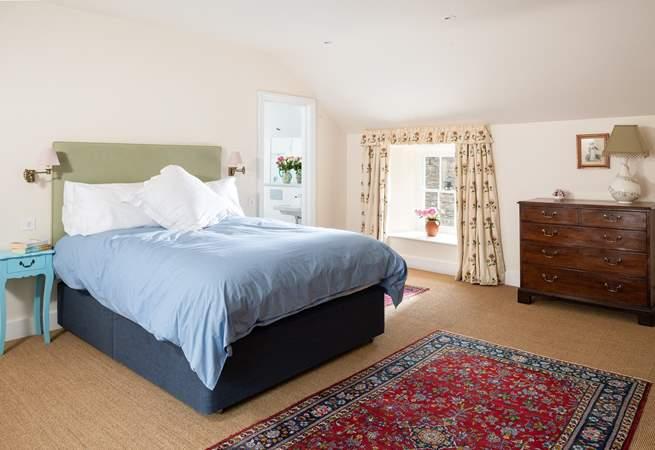 The master bedroom has a lovely en suite shower-room.