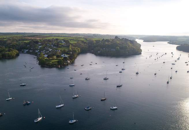 The banks of The Helford.