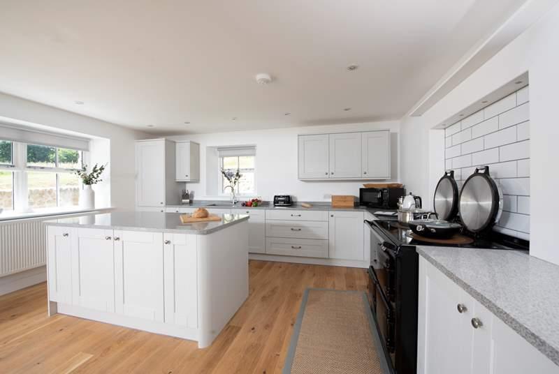 The stunning kitchen area.