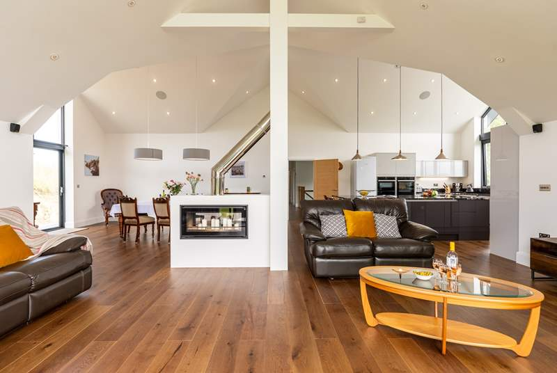The large open plan living space is light and airy.