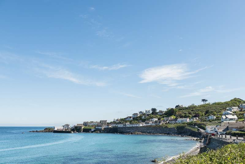 The pretty seaside village of Coverack is a short drive away, make sure you have a Roskilly's ice cream.