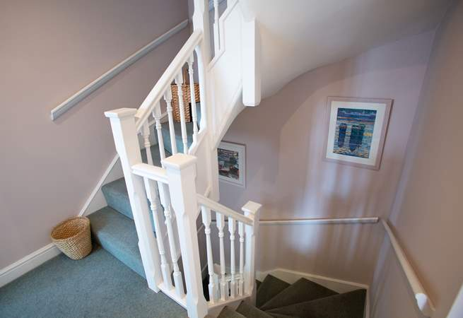 The property is over three floors with easy tread stairs and banisters up to each floor.
