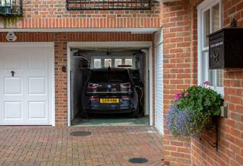 The integral garage also offers guests the opportunity to charge their car.