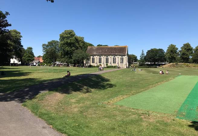 Priory Park is a five minute walk away.