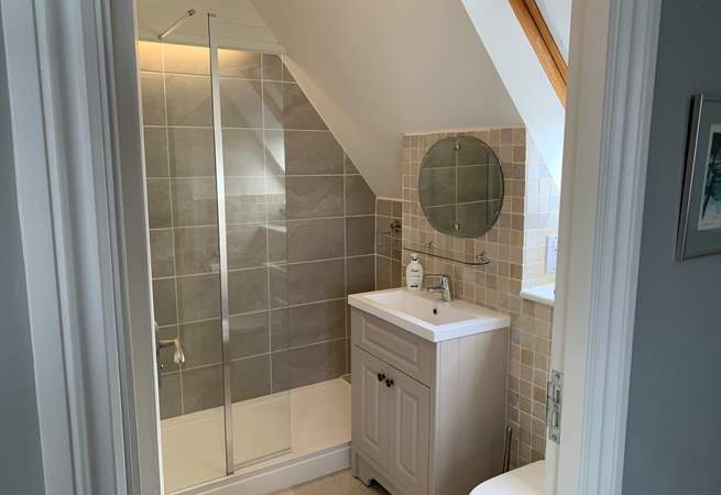 En suite shower-room for one of the double bedrooms.