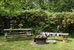 Here's the fire-pit area - perfect for toasting marshmallows of an evening.