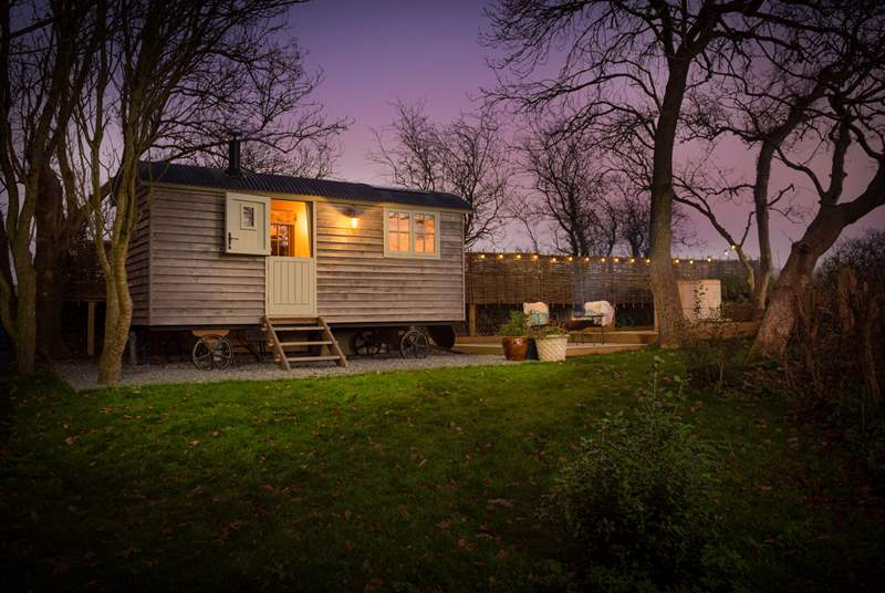 Woodpecker Shepherd's Hut is truly magical at any time of year.