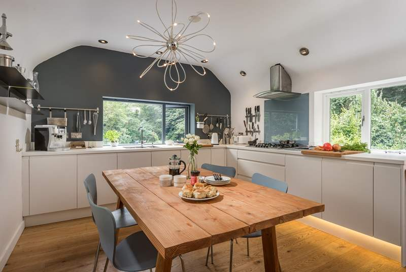 The open plan kitchen/diner is a fabulous area to socialise in.