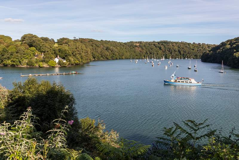 In spring and summer catch the ferry from the pontoon at Malpas and explore the Fal River.
